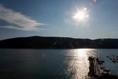 Havssikt från fästningen av Herceg-Novi royaltyfri fotografi