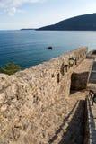 Havssikt från fästningen av Herceg-Novi royaltyfri bild