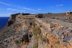 Havssikt från fästningen på ön Gramvousa Royaltyfri Fotografi