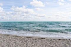 Havssikt från Miami Beach arkivbild