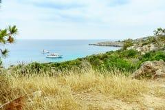 Havssikt från parkera Cavo Greco Fotografering för Bildbyråer