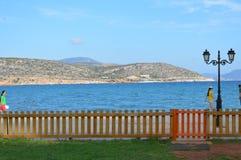 Havssikt från Varkiza Grekland Arkivbild