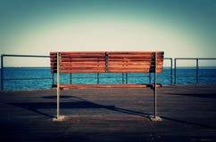 Havssikt - Limassol, Cypern som är medelhavs- Arkivbild