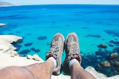 havssikt Marocko royaltyfri foto