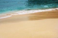 Havssikt med sand royaltyfri fotografi