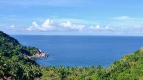 Havssikt på en varm dag Royaltyfria Foton