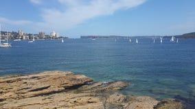 Havssikt på manligt, New South Wales Arkivfoto