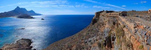 Havssikt uppifrån av ön Gramvousa Royaltyfri Fotografi