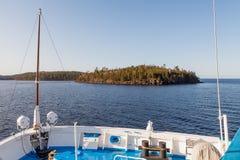 Havssikten från kryssningskeppet arkivbild
