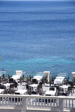 Havssiktsrestaurang Royaltyfri Bild