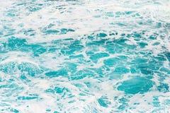 Havsskum och vattenbakgrund Royaltyfri Fotografi