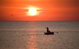 havssolnedgång Royaltyfri Fotografi
