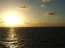 havssolnedgång Arkivbilder
