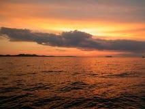 havssolnedgång royaltyfria foton