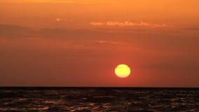 Havssolnedgång HD arkivfilmer
