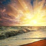 Havssolnedgångar royaltyfria bilder