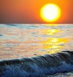 Havssolnedgångar royaltyfria foton