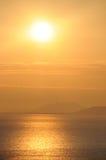 havssoluppgång Royaltyfri Fotografi