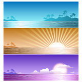Havssommarillustration Vektor Illustrationer