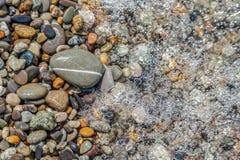 Havsstenar på den Black Sea kusten Arkivfoto