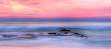 Havsstenar på solnedgången Royaltyfri Foto