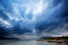 havsstorm Royaltyfri Fotografi