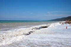 havsstorm arkivfoton