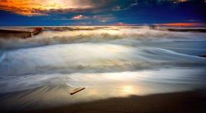 Havsstorm Sochi Arkivfoto