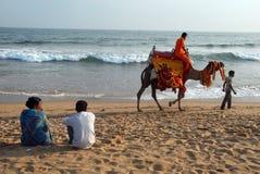 Havsstrand av Orissa Royaltyfri Foto