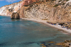 Havsstrand i Milos ö, Grekland Royaltyfri Bild