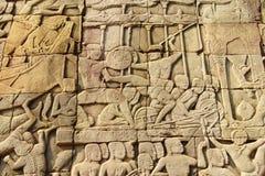 Havsstrid mellan chamen och en khmer Royaltyfri Foto