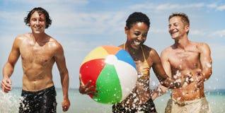 HavsSunny Vacation Leisure Holiday Friends begrepp royaltyfri fotografi