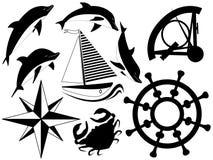 havssymboler stock illustrationer