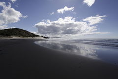 Havstrand, Nya Zeeland Arkivbild