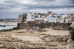 Havsvägg av Essaouira arkivfoto