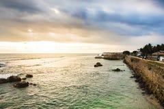 Havsväggarna av den koloniala staden av Galle, Sri Lanka Royaltyfri Foto