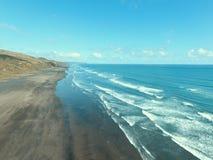 Havsvåg och Beach3 Arkivbilder