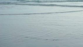 Havsvåg på stranden i Thailand arkivfilmer