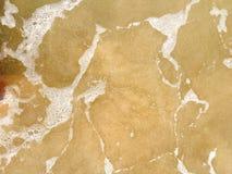 Havsvågor som når att svepa till kusten arkivfoto