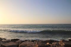 Havsvatten och himmel Arkivbilder