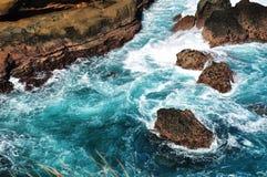 Havsvatten och korall royaltyfri foto
