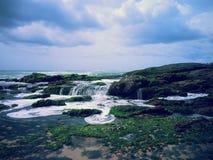Havsvattenfall royaltyfria foton