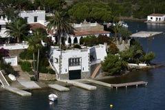 Havsvilla, Menorca, Spanien Fotografering för Bildbyråer