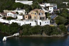Havsvilla, Menorca, Spanien Royaltyfri Fotografi