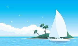 havsyacht Royaltyfri Foto