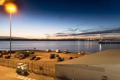 Havterminal- och Southampton vatten Royaltyfri Bild
