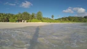 Havvågor som ashore körs stock video