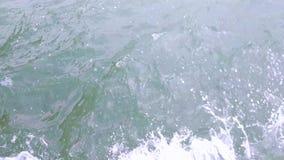 Havvattenyttersida som är loopable Mäktig bakgrund för filmkrediteringar eller intro arkivfilmer