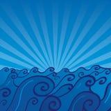 havvektor royaltyfri illustrationer