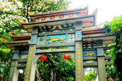 Haw Par Villa. Is a theme park located along Pasir Panjang Road, Singapore. The park contains over 1,000 statues and 150 giant dioramas depicting scenes from Stock Image